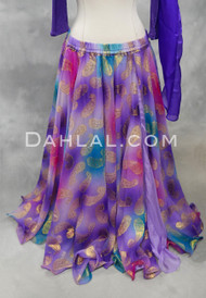 purple belly dance skirt