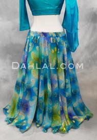teal chiffon skirt