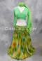 lime green chiffon skirt