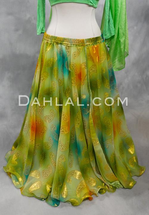 lime green bellydance skirt