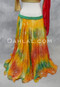 orange chiffon skirt