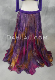 purple chiffon skirt