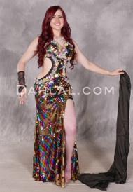 Multi-color Beaded Egyptian Dress