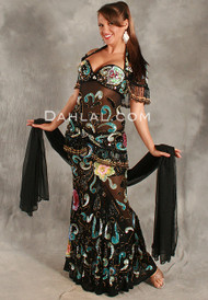 SHEER DELIGHT by Pharaonics of Egypt, Egyptian Belly Dance Costume, Available for Custom Order