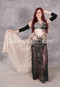 Smoldering in Lace Beaded Egyptian Costume