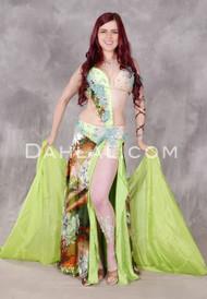 Lime Heart's Desire Egyptian Beaded Costume