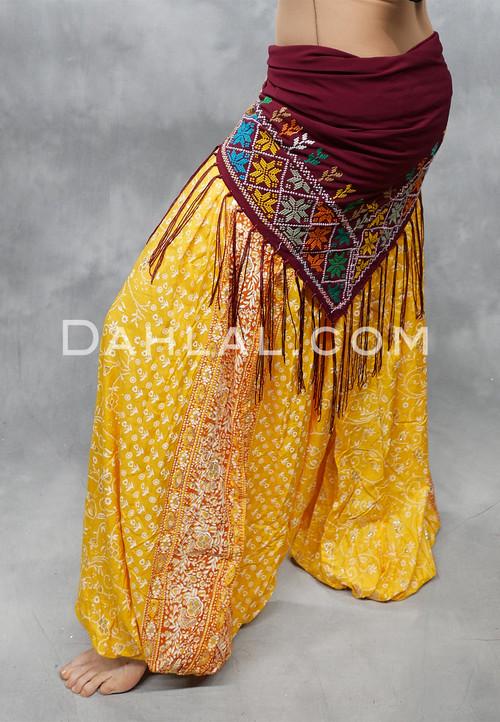 Yellow Maharani Printed Harem Pants