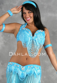 GREAT LOOP Bra and Belt Set by Pharaonics of Egypt, Egyptian Belly Dance Costume, Available for Custom Order