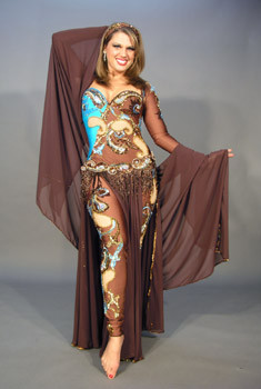 AGILITY by Pharaonics of Egypt, Egyptian Belly Dance Costume, Available for Custom Order image