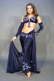 DYNAMIC DRAPE by Pharaonics of Egypt, Egyptian Belly Dance Costume, Available for Custom Order
