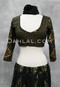 Black and Gold Faux Assuit Choli Top