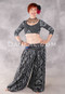 Front View of Black and Silver Top, Shawl and Style II Harem Pants