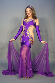ETERNAL FLAME by Pharaonics of Egypt, Egyptian Belly Dance Costume, Available for Custom Order