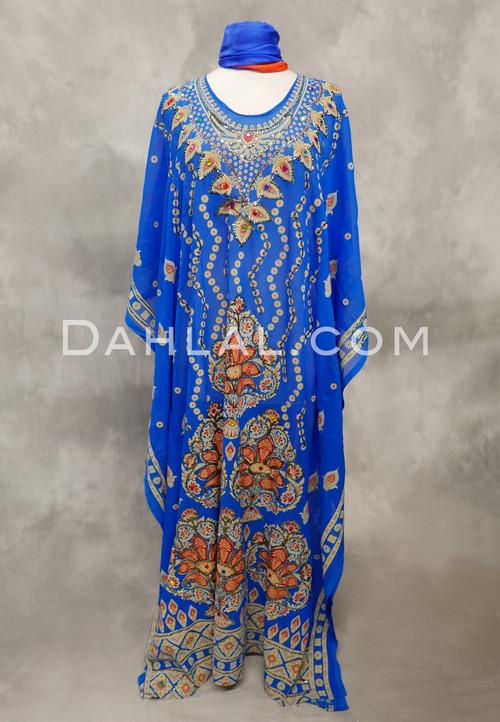 royal blue caftan