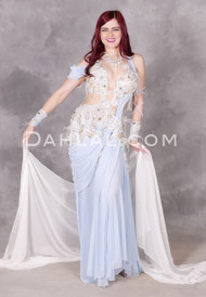 Baby Blue Egyptian Belly Dance Dress