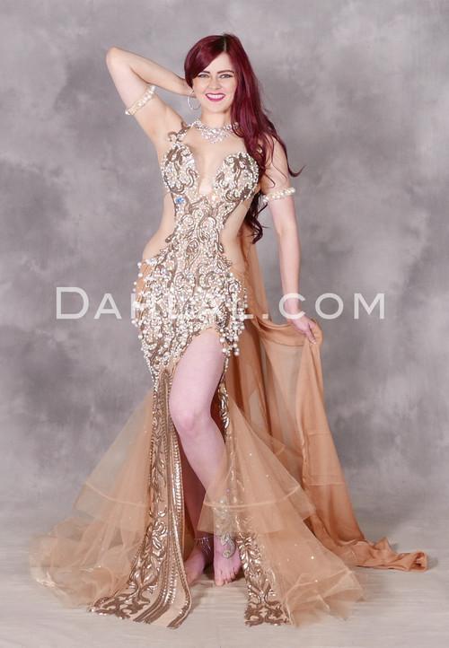 Romantic Allure Eman Zaki Egyptian Beaded Dress
