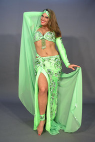 NILE BREEZE by Pharaonics of Egypt, Egyptian Belly Dance Costume, Available for Custom Order