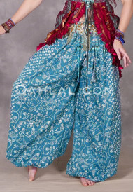 teal harem pants