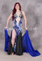 blue and silver belly dance dress