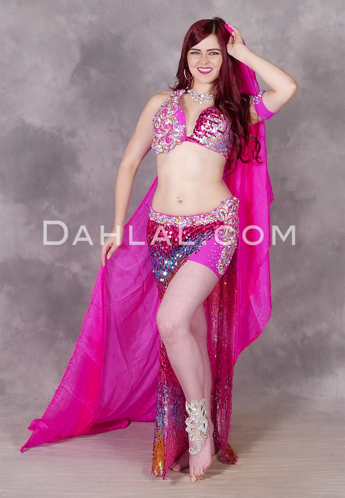 fuchsia bellydance costume