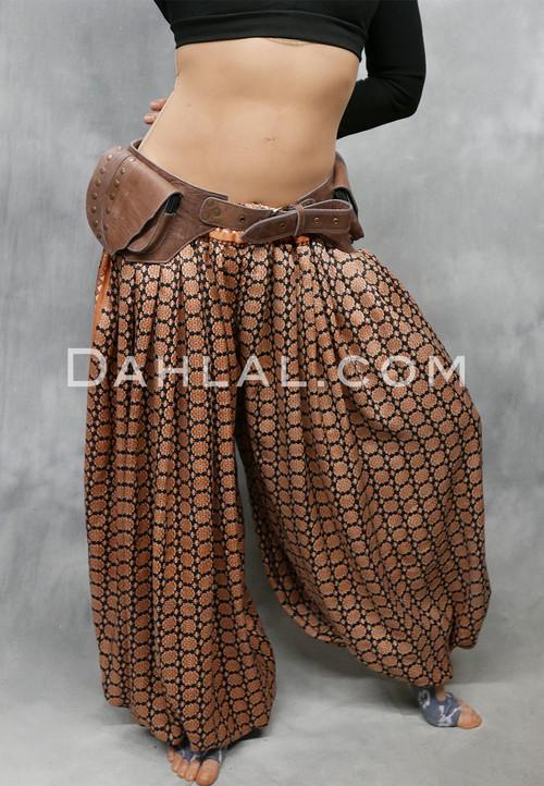 brown leather pocket belt