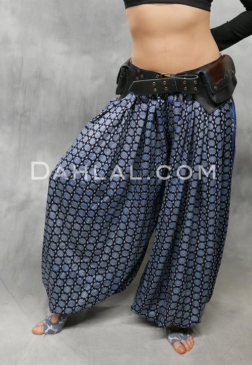 Pocket Leather Belt with Lacing Detail