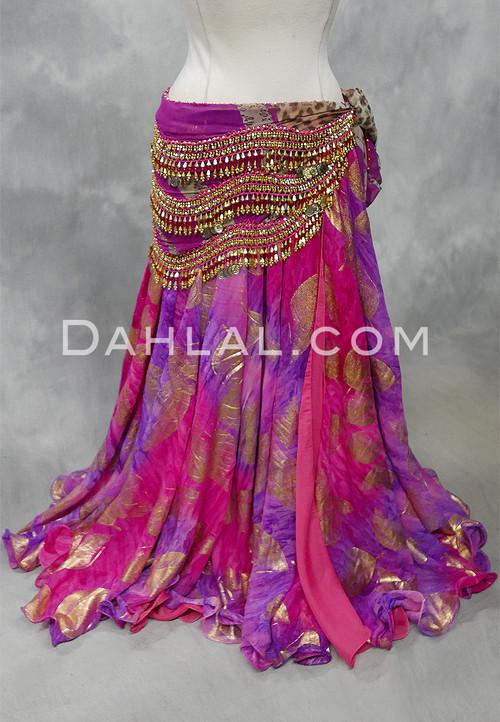 fuchsia and purple chiffon skirt