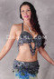 black iris bra and belt set