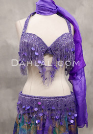 lavender bra and belt set