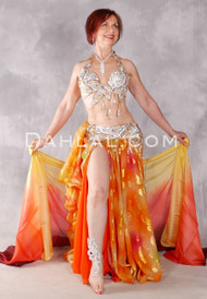 CAIRO JEWEL Egyptian bra and belt set- Aurora, Gold and Copper