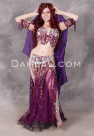 Dusty Purple Beaded Egyptian Costume