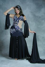 FLORALS WITH FLAIR by Pharaonics of Egypt, Egyptian Belly Dance Costume, Available for Custom Order