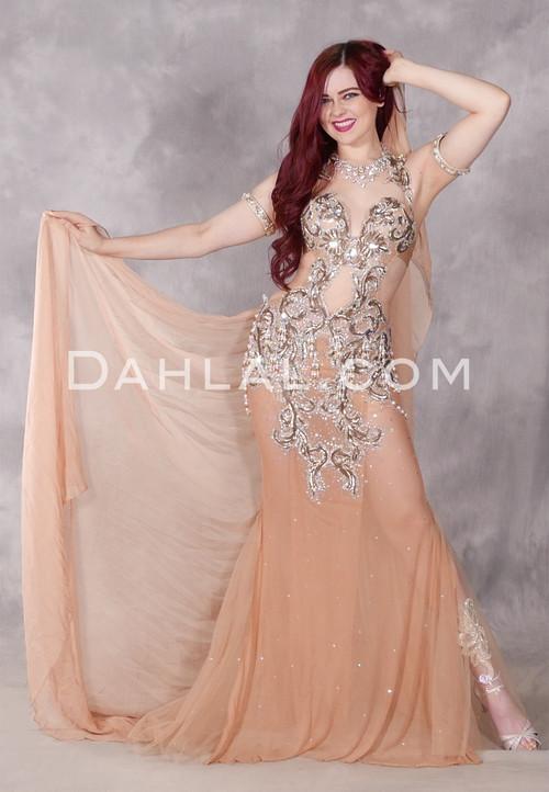 Romantic Allure II Nude Beaded Dress