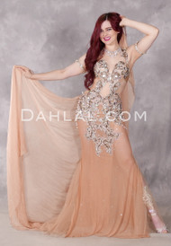 Romantic Allure II Nude Beaded Dress
