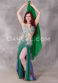 Emerald Isle Beaded Egyptian Dress