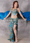 Jeweled Treasure Turquoise Egyptian Beaded Costume