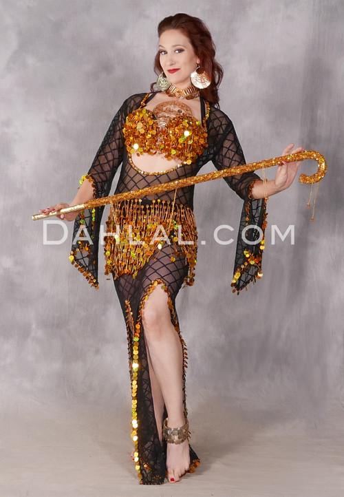 black mesh Saidi dress