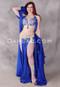 royal blue Egyptian belly dance costume
