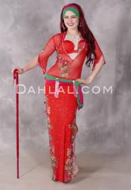 Fire Blossom Egyptian dress
