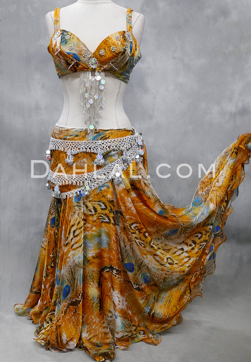gold peacock costume