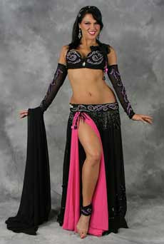 EGYPTIAN ROSE by Pharaonics of Egypt, Egyptian Belly Dance Costume, Available for Custom Order image