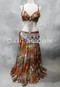 copper and silver Egyptian costume
