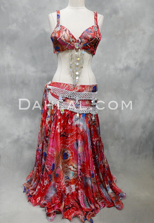 red and silver Egyptian costume