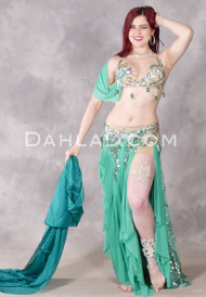 Seaside Charmer Beaded Egyptian Costume in Seafoam Green