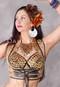 gold tribal bra