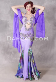 Lavender Mist Egyptian Beaded Costume