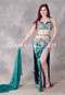 Glimmering Seascape Egyptian Beaded Teal Costume