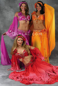 ENCHANTED BOUQUET by Pharaonics of Egypt, Egyptian Belly Dance Costume, Available for Custom Order
