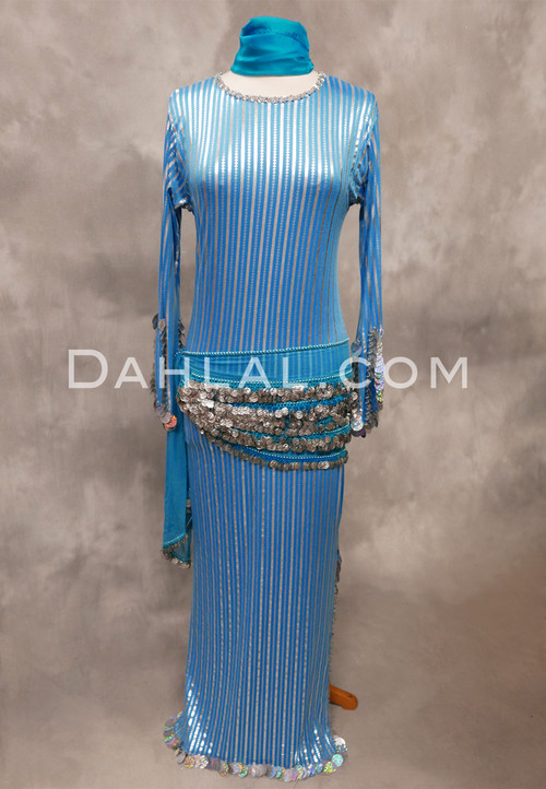 turquoise and silver saidi dress