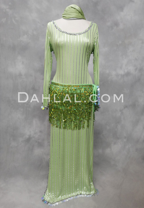 Lime & Silver Egyptian dress